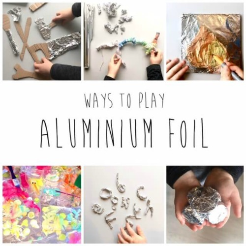 5 ways to play with aluminium foil