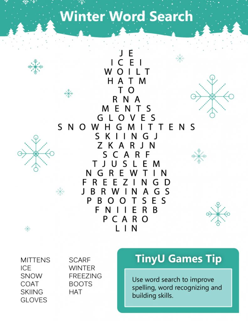 winter-words printable
